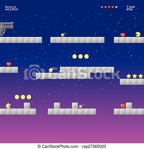 Video game location, arcade games - csp27565020