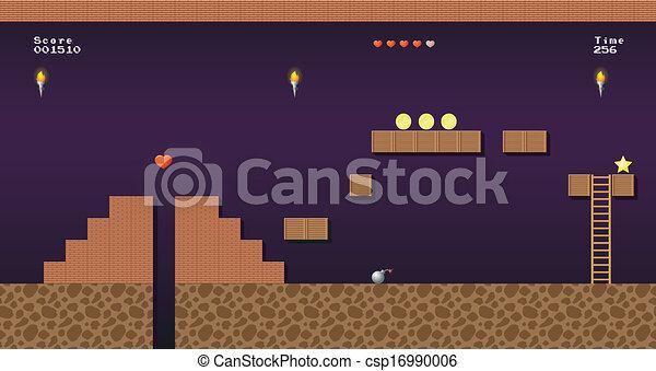 Video game location, arcade games - csp16990006