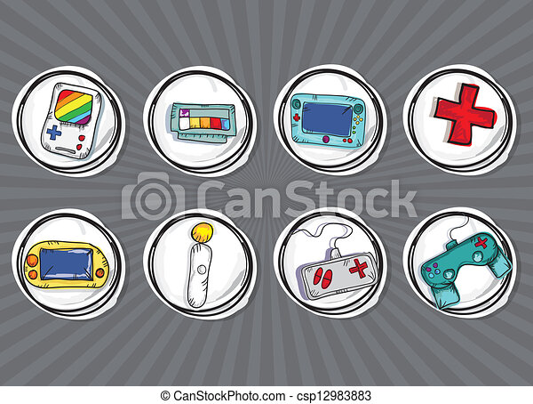Video Games Icons - csp12983883