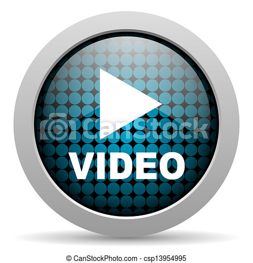 video glossy icon - csp13954995