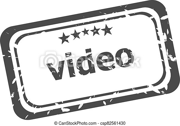 video grunge rubber stamp isolated on white background - csp82561430