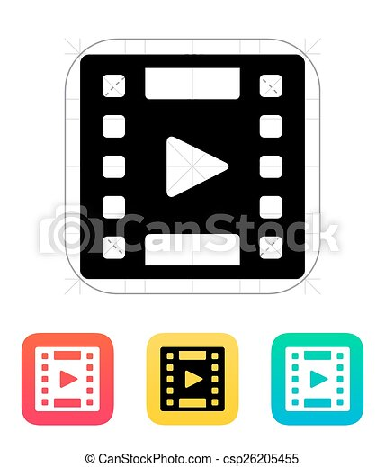 video icon clipart vector search illustration drawings and eps rh canstockphoto com video game icon vector instagram video icon vector