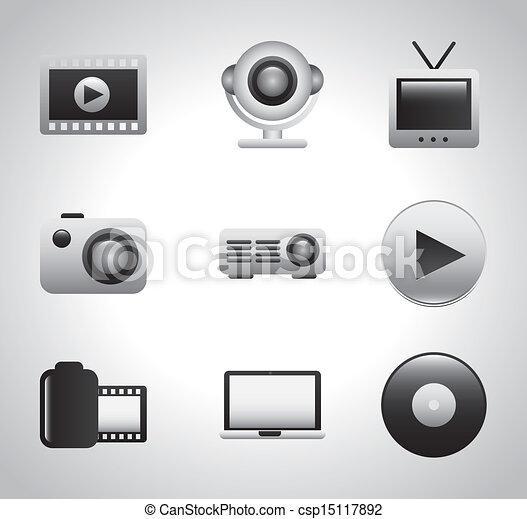 video icons  - csp15117892