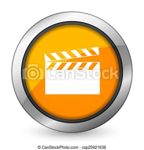 video orange icon cinema sign - csp25921636