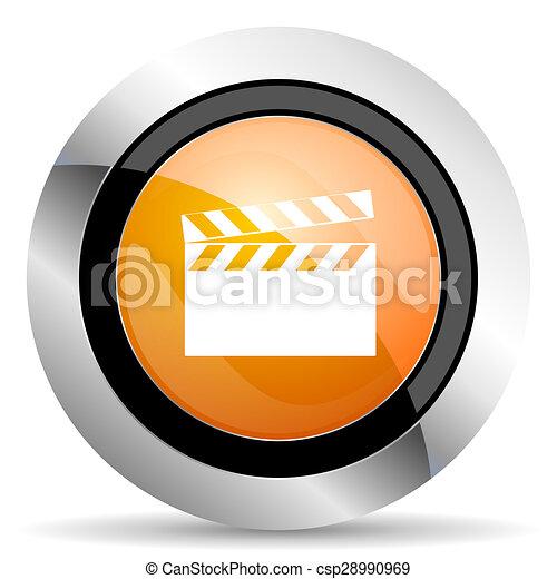 video orange icon cinema sign - csp28990969