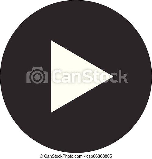 Video play button icon vector for graphic design, logo, web site, social media, mobile app, ui illustration - csp66368805