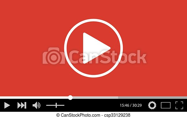 Video player design template web and mobile apps