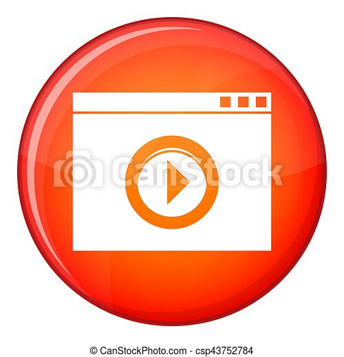 Video player icon, flat style - csp43752784