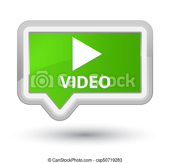 Video prime soft green banner button - csp50719283