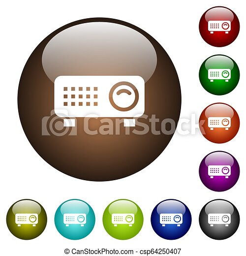 Video projector color glass buttons - csp64250407