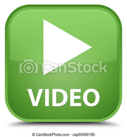 Video special soft green square button - csp50490185