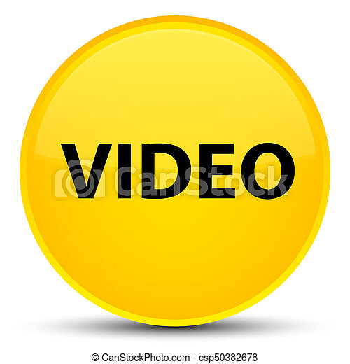 Video special yellow round button - csp50382678