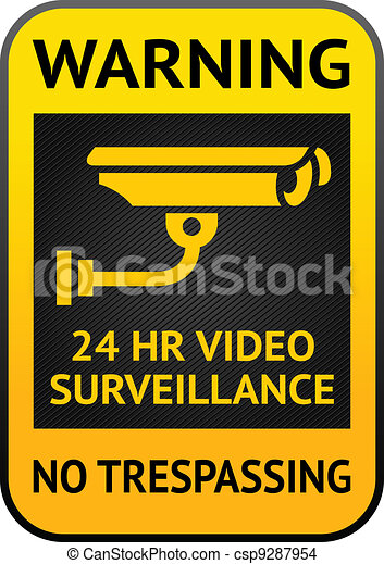Video surveillance label - csp9287954