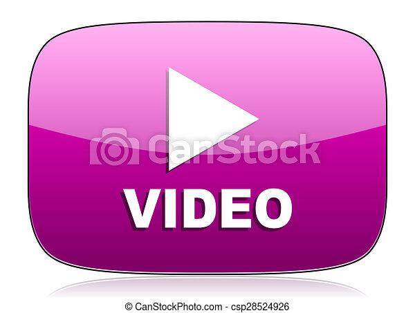video violet icon - csp28524926