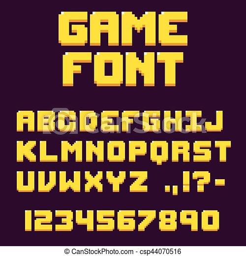 videogame, police, pixel, retro - csp44070516
