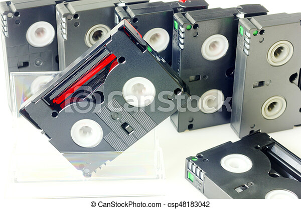 Videotapes isolated on white - csp48183042