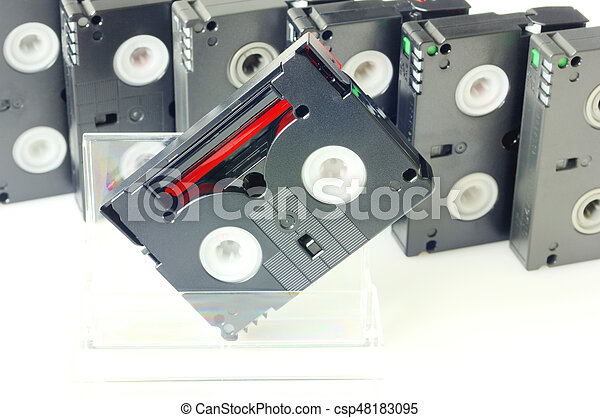 Videotapes isolated on white - csp48183095