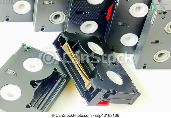 Videotapes isolated on white - csp48183106