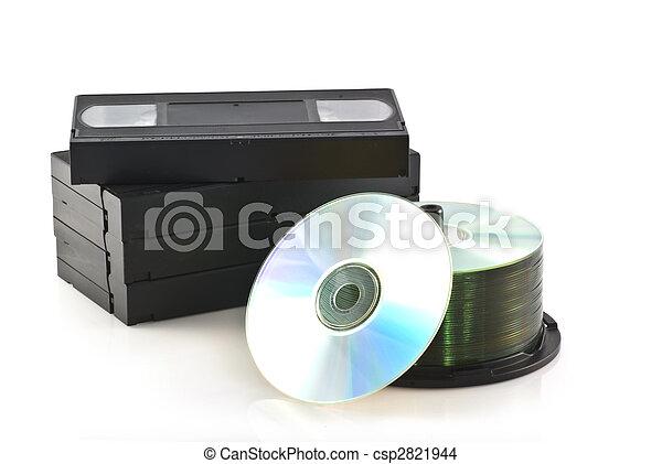 Videotapes versus dvd. - csp2821944