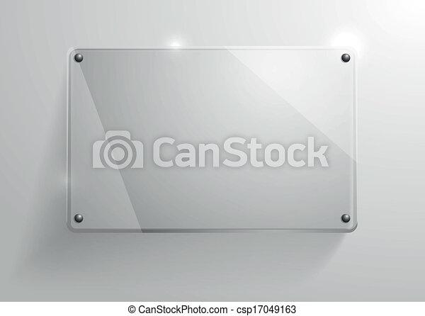 Un marco de vidrio - csp17049163