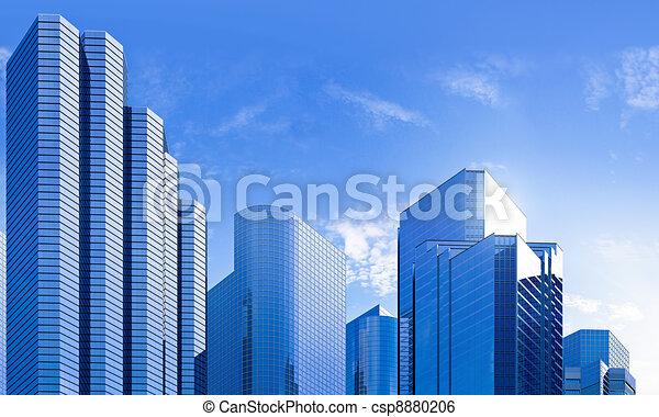 Un rascacielos de cristal azul de rascacielos - csp8880206