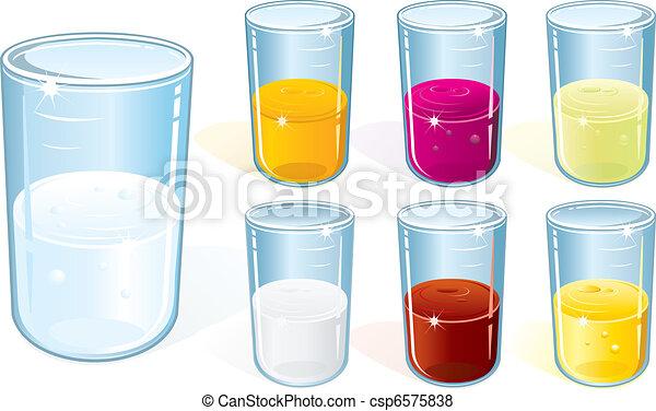 Un vaso con bebida - csp6575838