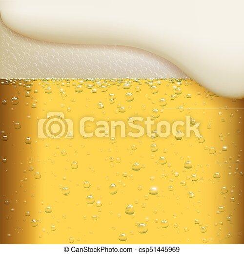 Un vaso de cerveza. - csp51445969
