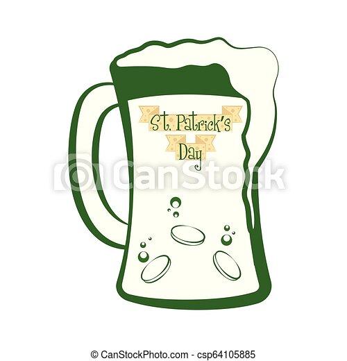 Un vaso de cerveza - csp64105885
