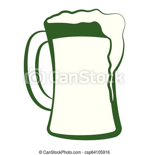 Un vaso de cerveza con espuma - csp64105916