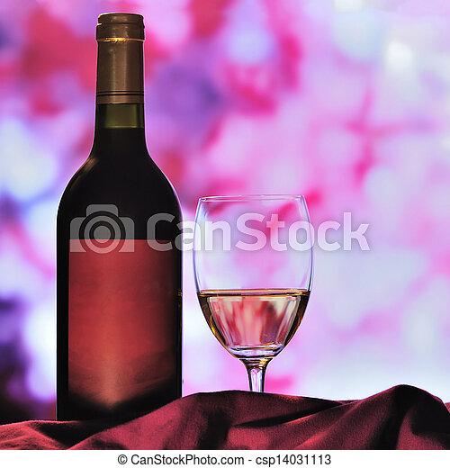 vidrio, botella roja, vino - csp14031113