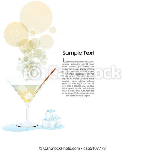 Un vaso de cóctel - csp5107773