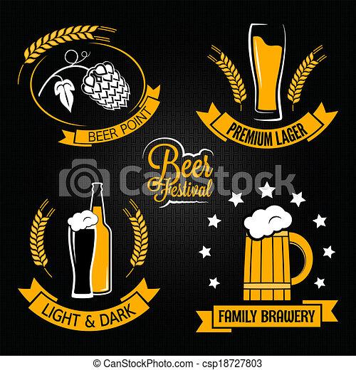 Etiqueta de botellas de cerveza - csp18727803