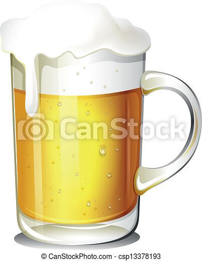 Un vaso de cerveza fría - csp13378193