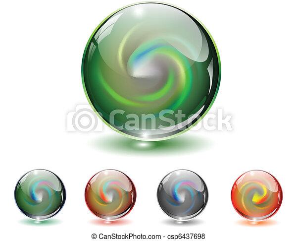 vidrio, cristal, vector., esfera - csp6437698