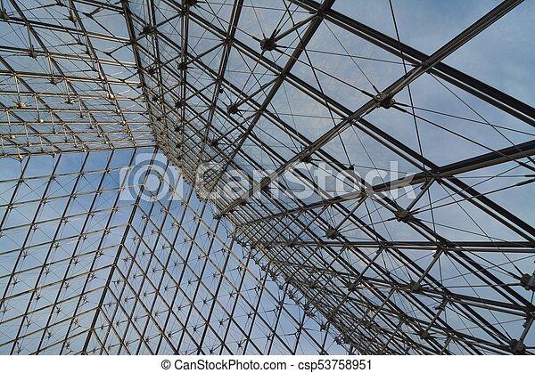 Vidrio estructura de metal Vidrio piramidal estructura de metal