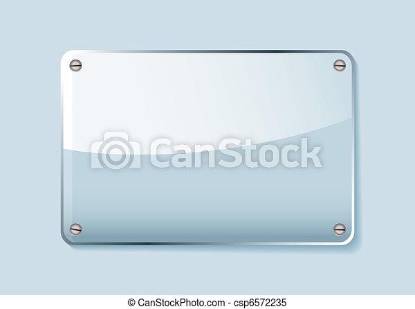 La etiqueta de vidrio - csp6572235