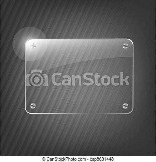 Un marco de vidrio de fondo negro - csp8631448