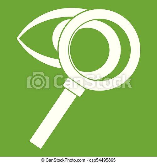Vidrio amplificador con icono verde - csp54495865