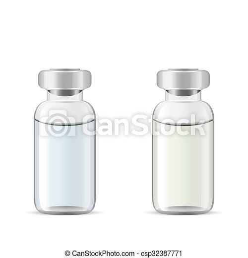 Vidrio Médico Frascos Solución Droga Herramientas