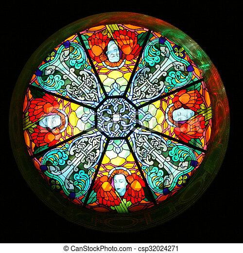 Una cúpula de vidrio manchada - csp32024271
