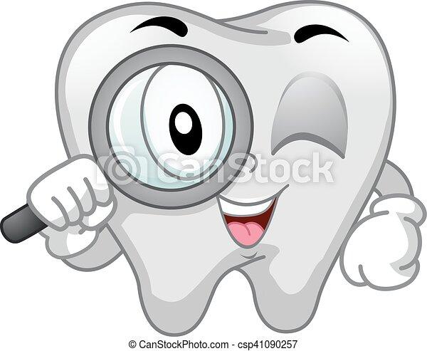Una lupa dental de mascota - csp41090257