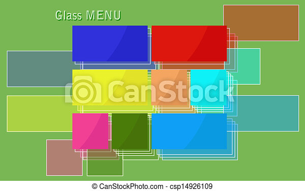 Menú de vidrio. - csp14926109