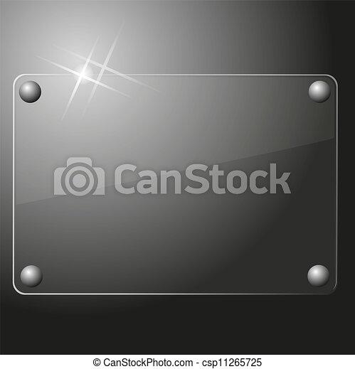 Antecedentes de placa de vidrio - csp11265725
