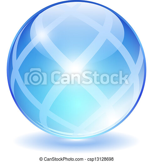 Bola de cristal abstracta - csp13128698