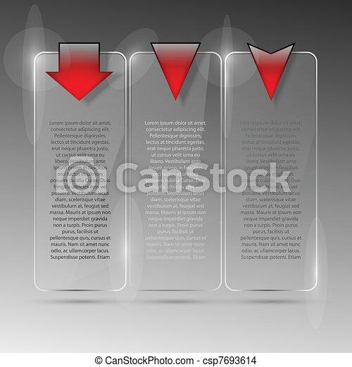 Un cartel de cristal. Ilustración de vectores. Eps10 - csp7693614
