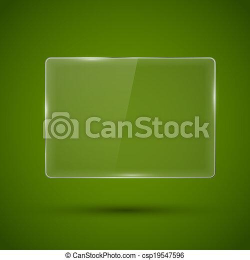 Un marco de vidrio. Ilustración de vectores. - csp19547596