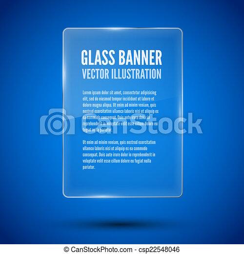 Un marco de vidrio. Ilustración de vectores. - csp22548046