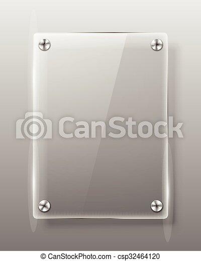 Ilustración de vectores de vidrio. - csp32464120