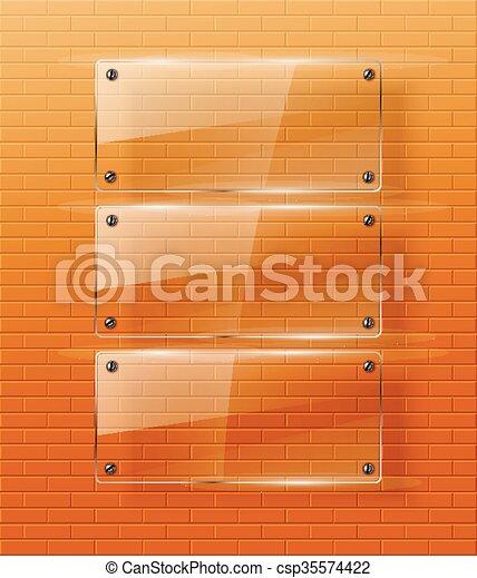Ilustración de vidrio. - csp35574422