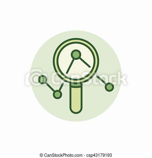 Magnifica el icono verde cristal - csp43179193